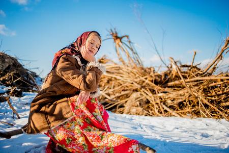 зимняя русская народная одежда