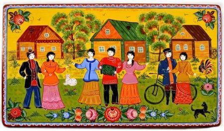gorodecskaya_rospis-450x263 Поэтапное рисование городецкой росписи: описание и рекомендации