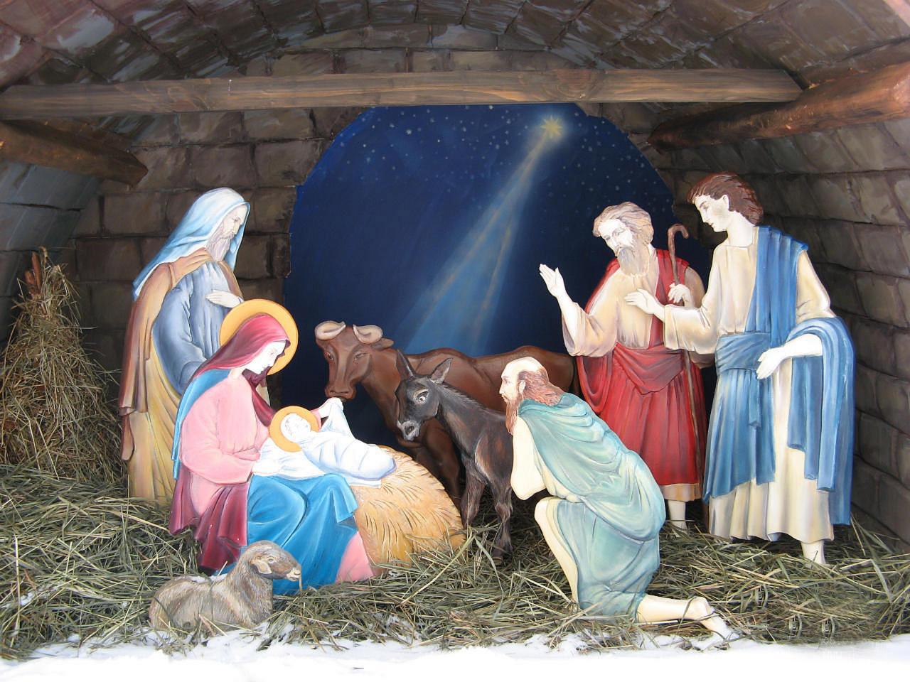 Рождественские картинки вертеп в хорошем качестве